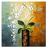"""Wieco Art- Quadro """"Beauty of Life"""", 100% dipinto a mano, moderno, motivo floreale, intelaiato e incorniciato, su tela, da appendere al soggiorno, camera da letto, decorazione da parete"""