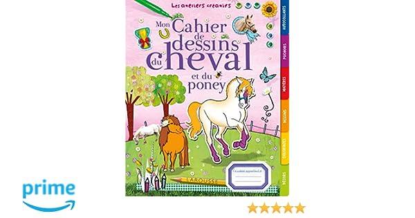 Mon Cahier De Dessins Du Cheval Et Du Poney Amazon Fr Andrea