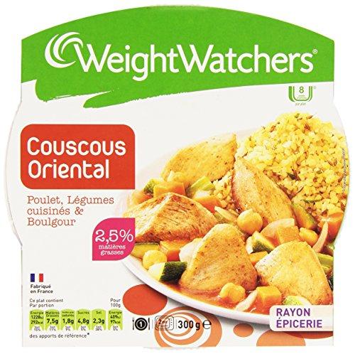 Weight Watchers Oriental Poulet/LéGumes Cuisinés & Boulgour La Barquette Micro-Ondable 300 g Couscous