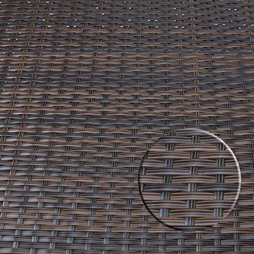 Rattan4Life 4-teilig Florenz Deluxe Polyrattan Gartenmöbel Set, Sofa / Lounge / Gartengarnitur / Kissenbezug, braun / mix / türkis - 8