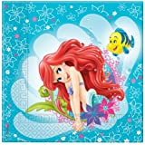 Disney Princess Ariel Little Mermaid Paper Napkins, Pack of 20
