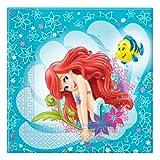 Disney - Lunch Servietten (Packung Mit 20) Prinzessin Die Kleine Meerjungfrau