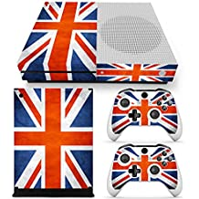Morbuy Xbox One S Skin Vinly Pegatinas Protective Consola Sticker Decal + 2 Controlador Skins Set (Flags UK)