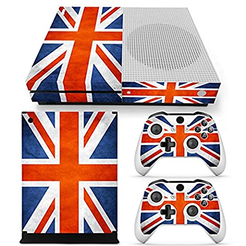 Morbuy Xbox One S Skin Console Vinyle Autocollant Decal Sticker and 2 Manette Skins (Flags UK)