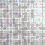 Mosaico de Vidrio en Malla DEC-74291AXT013, Blanco, 4 mm, 32.7 x 32.7 cm, Set de 10 Piezas