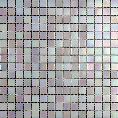 Mosaico de Vidrio en Malla DEC-74291AXT013, Blanco, 4 mm, 32.7 x 32.7...