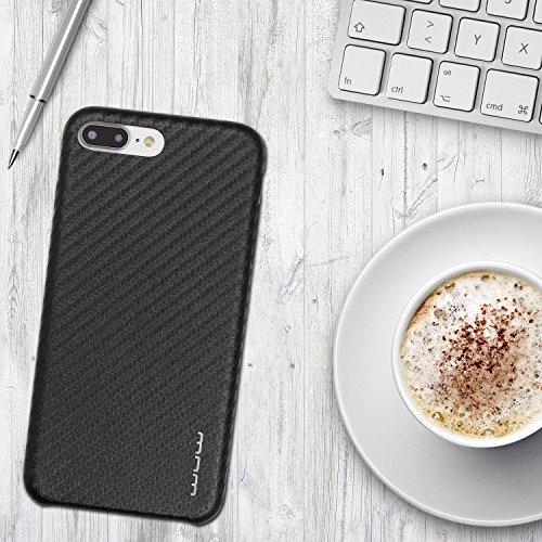 Urcover® Apple iPhone 7 Plus Handy Schutz-Hülle - Carbon Design – [Ultra Slim] - Cover | stoßfestes Back-Case Smartphone Zubehör federleichte Schale Farbe: Bronze / Braun Schwarz