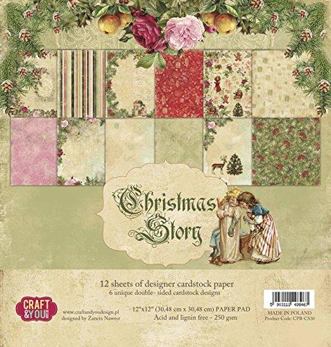 CraftandyouDesign Christmas Story - Paper Pad 12