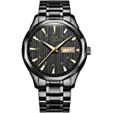OLMECA Men's Watch Fashion Luxury Wrist Watches Analog Quartz Waterproof Chronograph Watch for Men Stainless Steel Strap Cloc