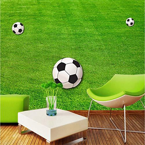 (Guyuell Benutzerdefinierte 3D Sport Thema Fototapete Fußballplatz Wandbild Für Kinder Wohnzimmer Sofa Kinder Schlafzimmer Tapeten Tv Hintergrund-350Cmx245Cm)