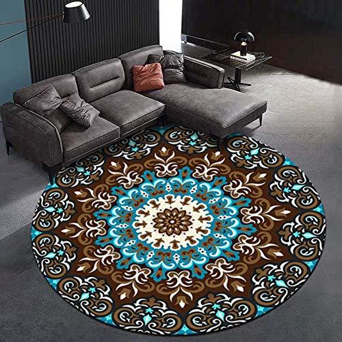 Um Schaukelstühle (YSX-carpet Runder Teppich Kindermatten Schlafzimmer Schlafsofa hängenden Korb Pad Schaukelstuhl Computer Stuhl nach Hause Teppich waschbar,M2,3.9ft)