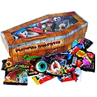 Cercueil avec Halloween Bonbon Trolli et Halloween Chocolat Kinder 300g