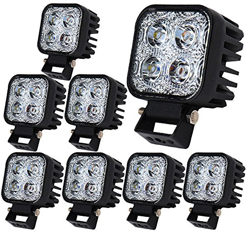 ALPHA DIMA 8X 12W Faro da Lavoro Barra LED Proiettore Riflettore Faretto a LED Fendinebbia Lampada Luci da Luce Impermeabile IP67 LED 12V 24V