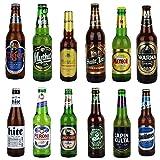 12er Bierset - BIERE AUS ALLER WELT - mit Verkostungstipps und Bewertungsbogen - von BierPost.com je 0,33l