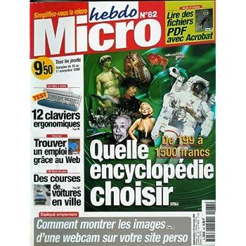 Micro hebdo - n°82 - 10/11/1999 - Quelle encyclopédie choisir ?