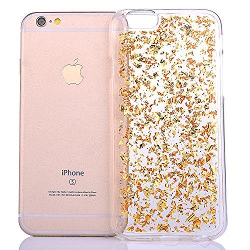 """Housse pour Apple iPhone 6Plus/6sPlus 5.5""""(NON iPhone 6/6s 4.7""""), CLTPY 3D Coloré Scintillement Placage Bordure Case, Ultra Léger Mince Hull de Protection Absorption des Choques pour iPhone 6Plus,iPho Or"""