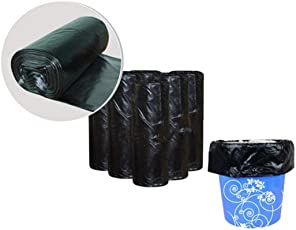 King International Stainless Steel Garbage Bags Bin Liners, (Small) Size 43 cm x 50 cm 1 Roll (30 Bags) | Trash Bags | Dustbin Bags | with Detachable tie Tapes
