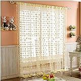 #6: Homefab India Heart Shape String Door Curtain (2 pc) - 7 ft, Cream