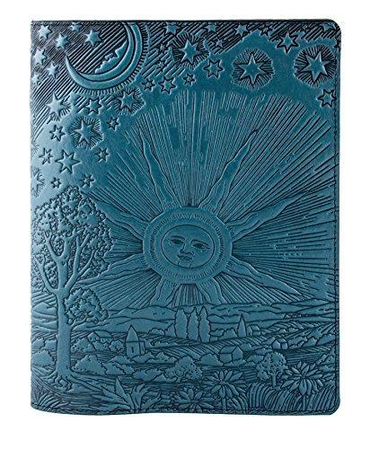 Echtes Leder Zusammensetzung Notebook Cover + Einsatz | 21x 26cm | Dach des Himmels, Sky Blau | benchcrafted in den USA von Oberon Design