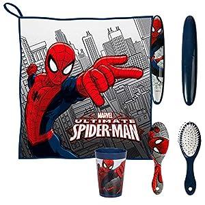 Spiderman- Set Neceser higiene Comedor Escolar con Accesorios (Artesanía Cerdá 250000505)