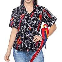 La Leela 100% cotone leggero 3 in 1 Aloha Caraibi loungewear casuale più delle donne di formato rilassato pulsante camicetta vestito adattarsi spiaggia giù camicia hawaiana grigia