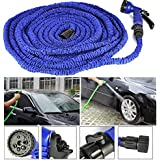 Almand 50 Ft Expandable Hose Pipe Nozzle For Garden Wash Car Bike With Spray Gun And 7 Adjustable Modes