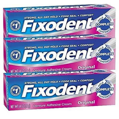 Fixodent Complete Original Denture Adhesive Cream 1.4 Oz - Set