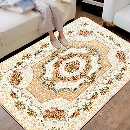 L&Y tapis Salon européen Tapis anti-dérapant Tapis de sol Chambre entièrement tapissée moderne Minimaliste Tapis de sol Non-Slip Mat (Couleur : #1, taille : 120 * 180cm)