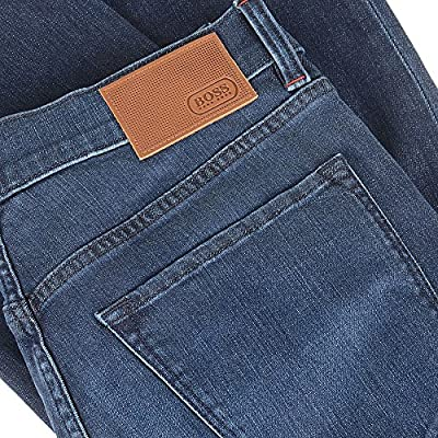 Hugo Boss Green C Maine 1 Cc8 Jeans In Darkwash