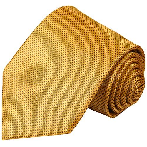 Paul Malone Goldene Krawatte 100% Seidenkrawatte gold braun