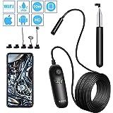 PiAEK Endoskopkamera HD 1200P WiFi Endoskop 10M Halbstarres Kabel Wasserdicht Inspektionskamera Handheld Unterstützung für iOS Android Smartphone Tablette