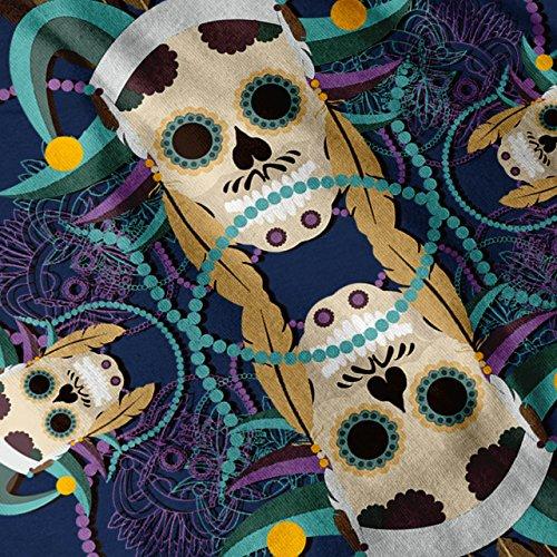 Einheimische Skelett Schädel Carnaval Knochen Damen Schwarz S-2XL Muskelshirt | Wellcoda Marine
