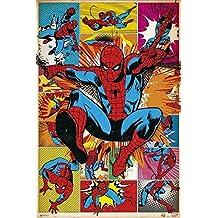 Grupo Erik Editores Poster Marvel Spiderman Comic Clasic