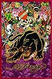 Ed Hardy Poster und Kunststoff-Rahmen - Black Panther I (91 x 61cm)