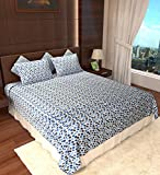 Amethyst Dots Cotton Double Bedsheet wit...