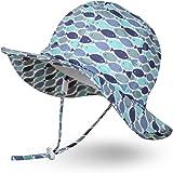 Ami&Li tots Niño Sombrero de Sol ala Ancha Ajustable Sombrero Protección Solar UPF 50 para Bebés, Niñas Niños Infantil Pequeñ