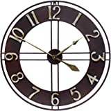 Growsun 30 inch Large Wall Clock Pure Metal Retro Heavy Duty Large Decorative Decor for Home Living Room Farmhouse