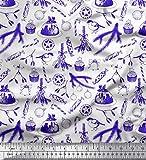 Soimoi Blau Samt Stoff Bonbons, Bell & Flitter Weihnachten