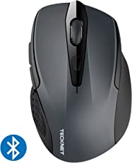 Bluetooth Maus, TeckNet Kompakte Wireless Kabellose Bluetooth Mouse, 5 verstellbare DPI Level, bis zu 2600 DPI, 12 Monate Batterielaufzeit