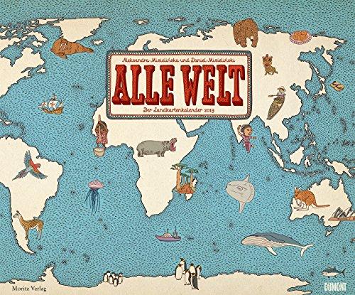 Alle Welt - Der Landkartenkalender - Kalender 2019 - DuMont-Verlag - Wandkalender mit historischen Landkarten - 58,4 cm x 48,5 cm