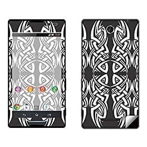 Skintice Designer Mobile Skin Sticker for Sony Xperia C, Design - Tribal