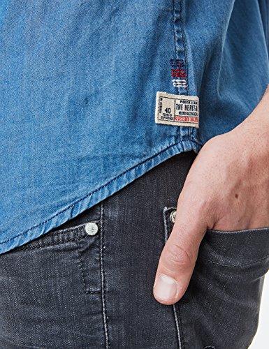 Pioneer Shirt Denim, Chemises Décontractées Homme Blau (denim blue 588)