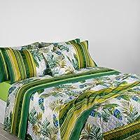 Bassetti Granfoulard.- Juego de sábanas Levante V2 Verde para cama de 180 cm