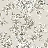Rasch Bordeaux Blumen Muster Blumenmotiv Traditionell Metallische Tapeten - Beige Grau 208528