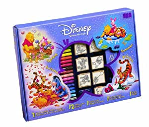 Disney Multiprint Winnie Pooh Rubber Stamp Big Box (Set of Seven)