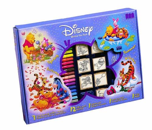 Disney Multiprint Winnie l'ourson–Loisir Tampon en Caoutchouc Big Box (Ensemble de Sept)