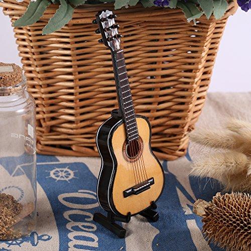 Musical Ornaments Holz Craft Miniatur-Gitarre für Home Decor (Gitarren-ornamenten)