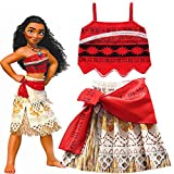 #4: Fancydresswale Princess Moana costume for Girls with Magical Seashell Necklace (7-8 Years)