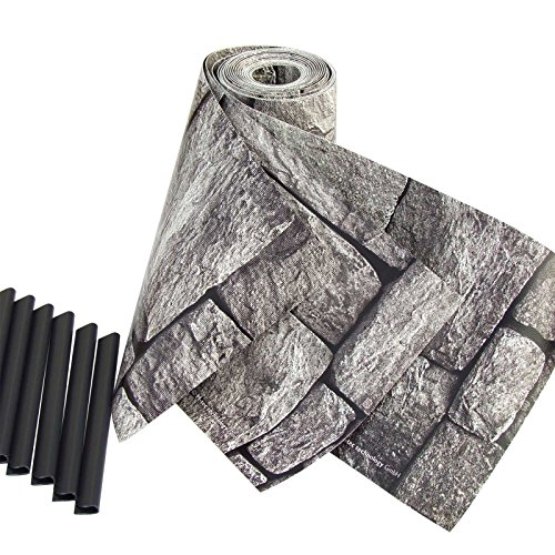 Sichtschutzstreifen mit Motiv/M-Tec Print/PVC / Granitmauer ✔ für 9 Reihen im Zaunfeld ✔ Kein Verbleichen ✔ Kein Schrumpfen ✔ Knitterfrei ✔ – Sie KAUFEN Hier DIREKT Beim