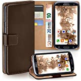moex Samsung Galaxy S3 | Hülle Dunkel-Braun mit Karten-Fach 360° Book Klapp-Hülle Handytasche Kunst-Leder Handyhülle für Samsung Galaxy S3 / S III Neo Case Flip Cover Schutzhülle Tasche